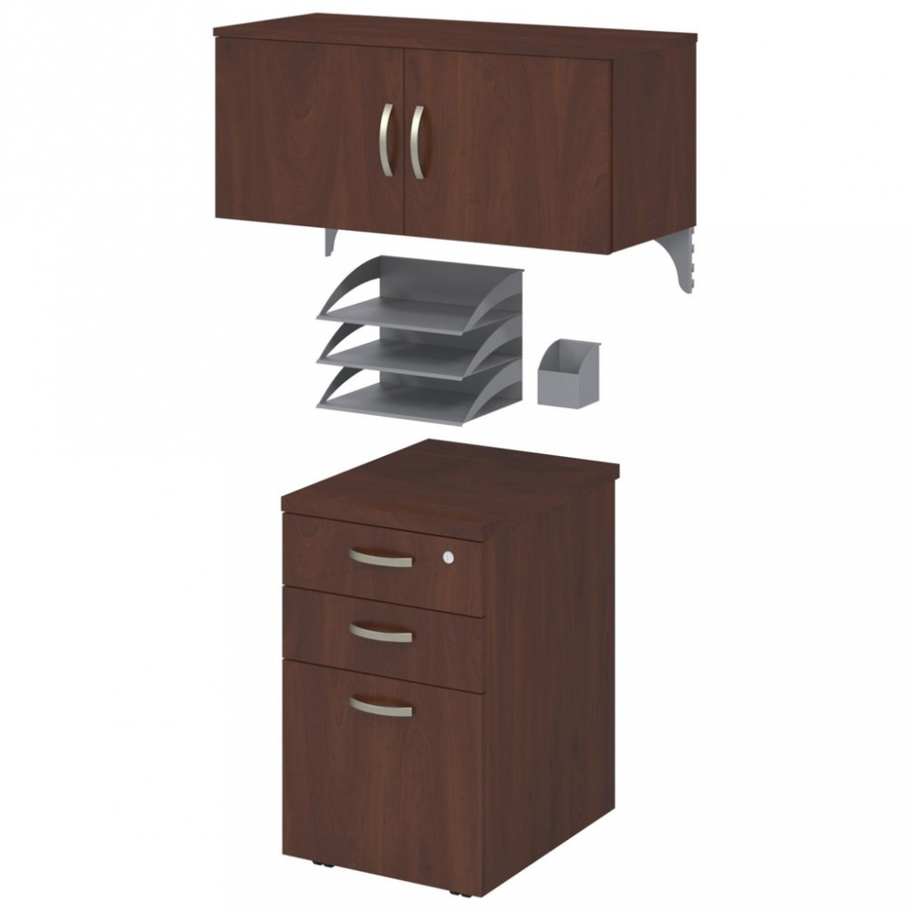 L shaped cubicle workstation with storage hansen cherry