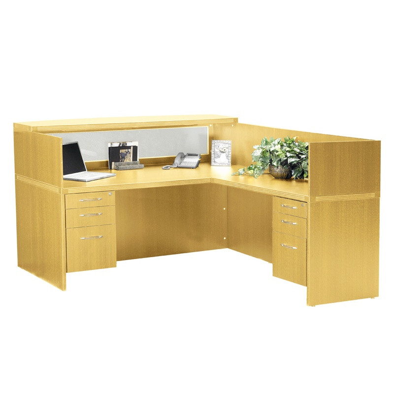 L shaped reception desk CUB AT36 MAPL MAY