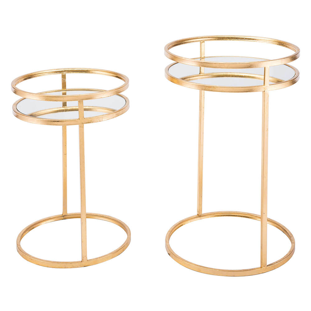 Nesting tables Set of 2 Gold