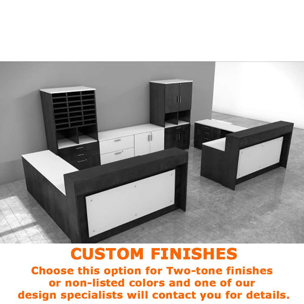 Wood reception desk CUB B2013 R001 FOI custom