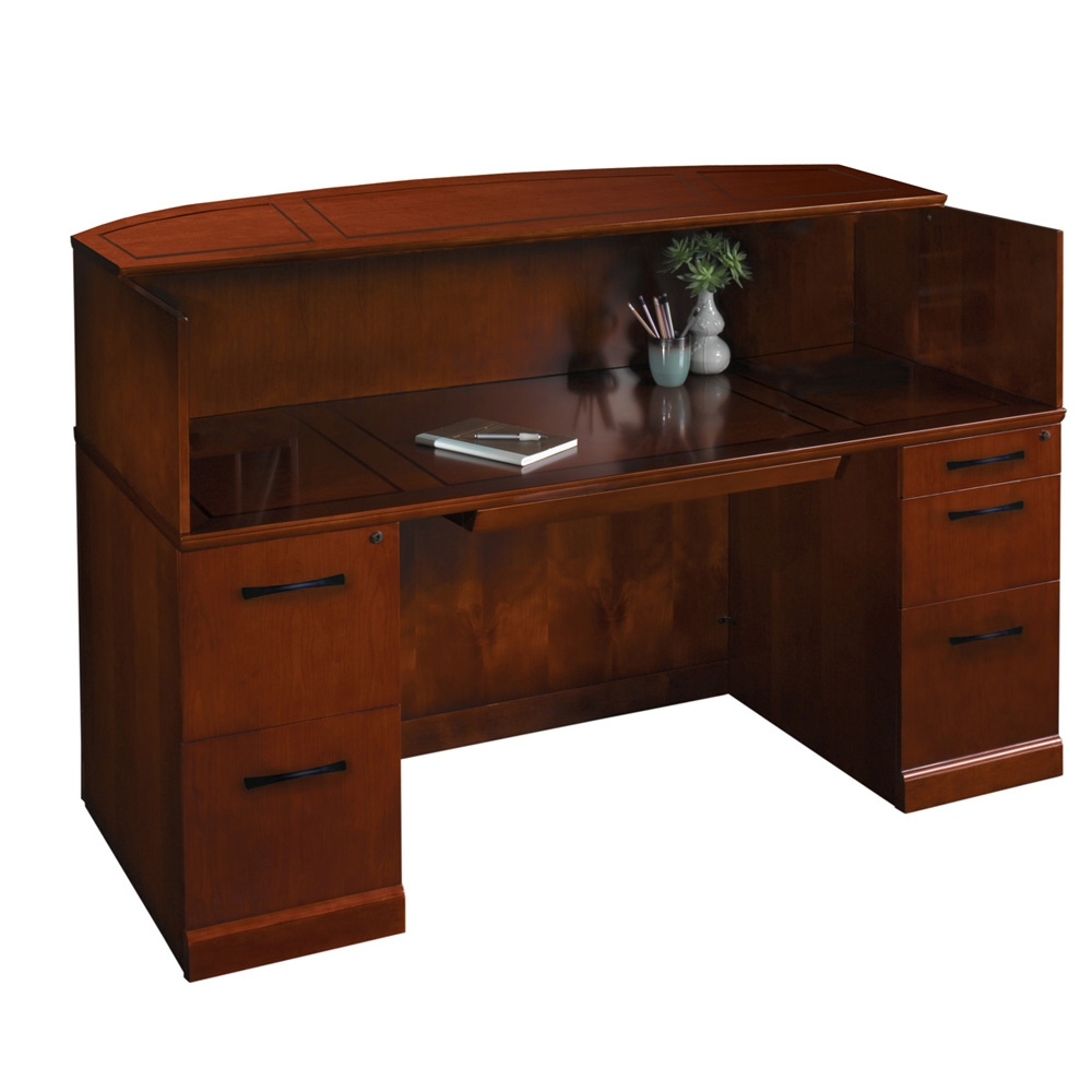 Wood reception desk CUB SRCD BCHER MAY