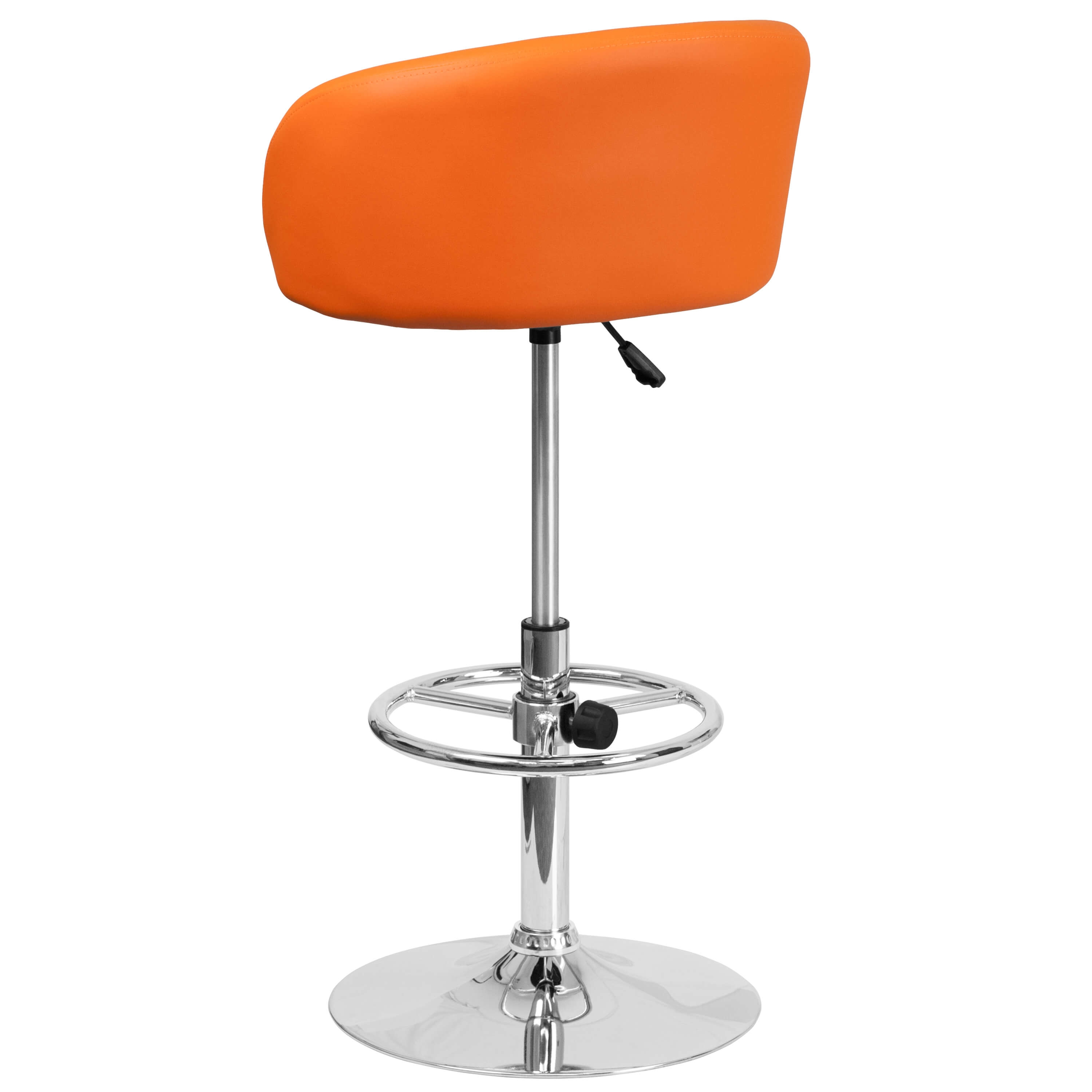 Adjustable colorful bar stools back view