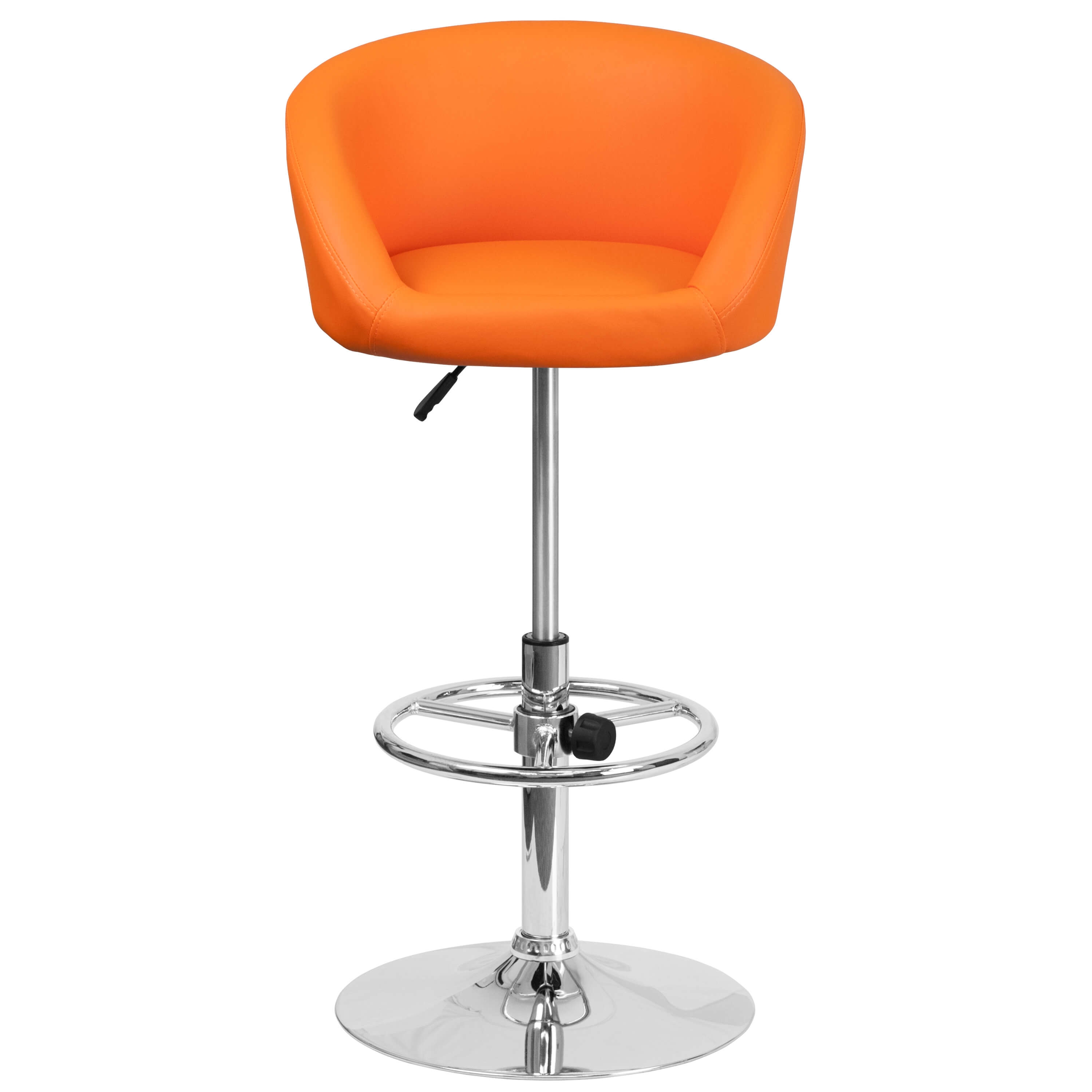 Adjustable colorful bar stools front view