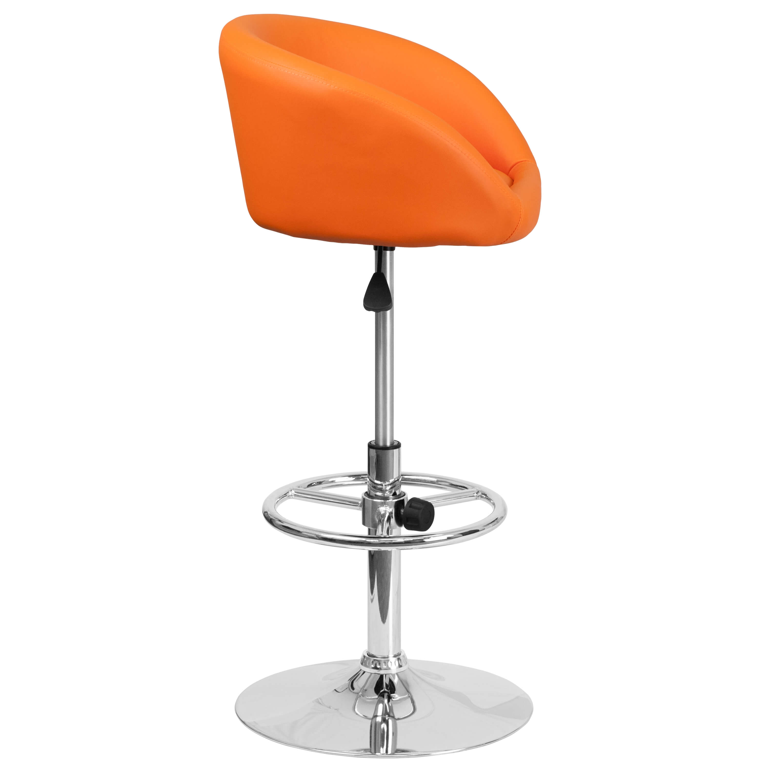 Adjustable colorful bar stools side view