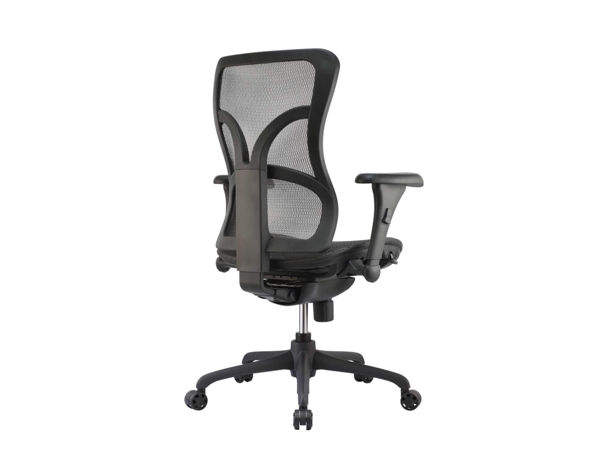 Adjustable office chair angle back