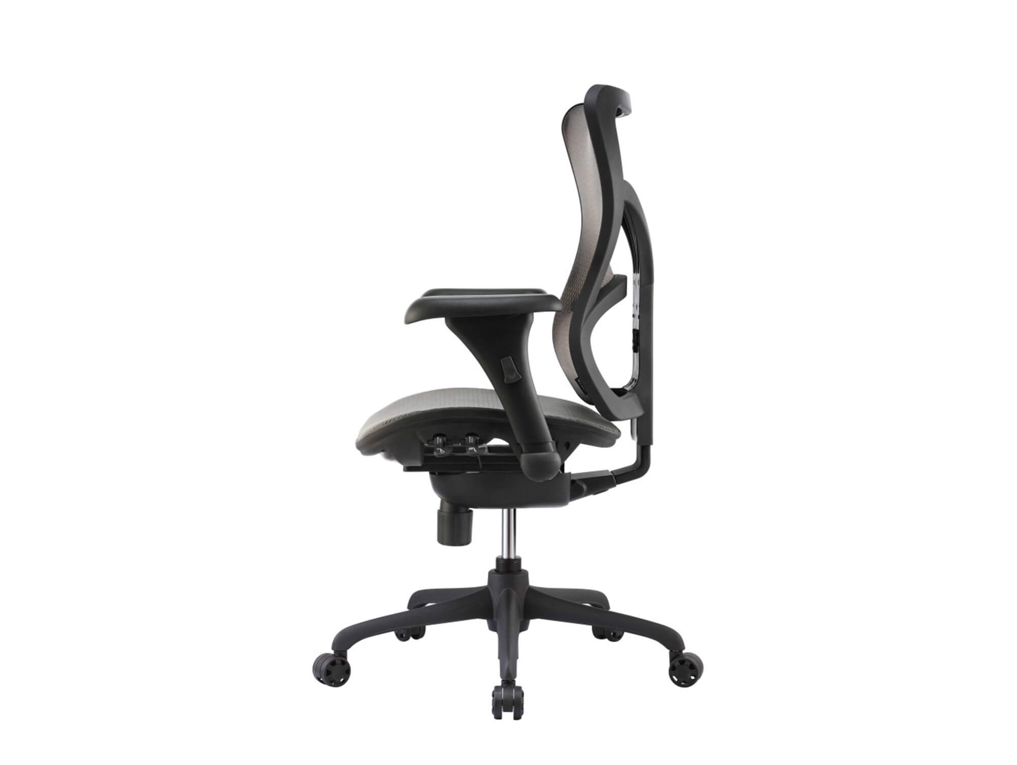 Adjustable office chair side