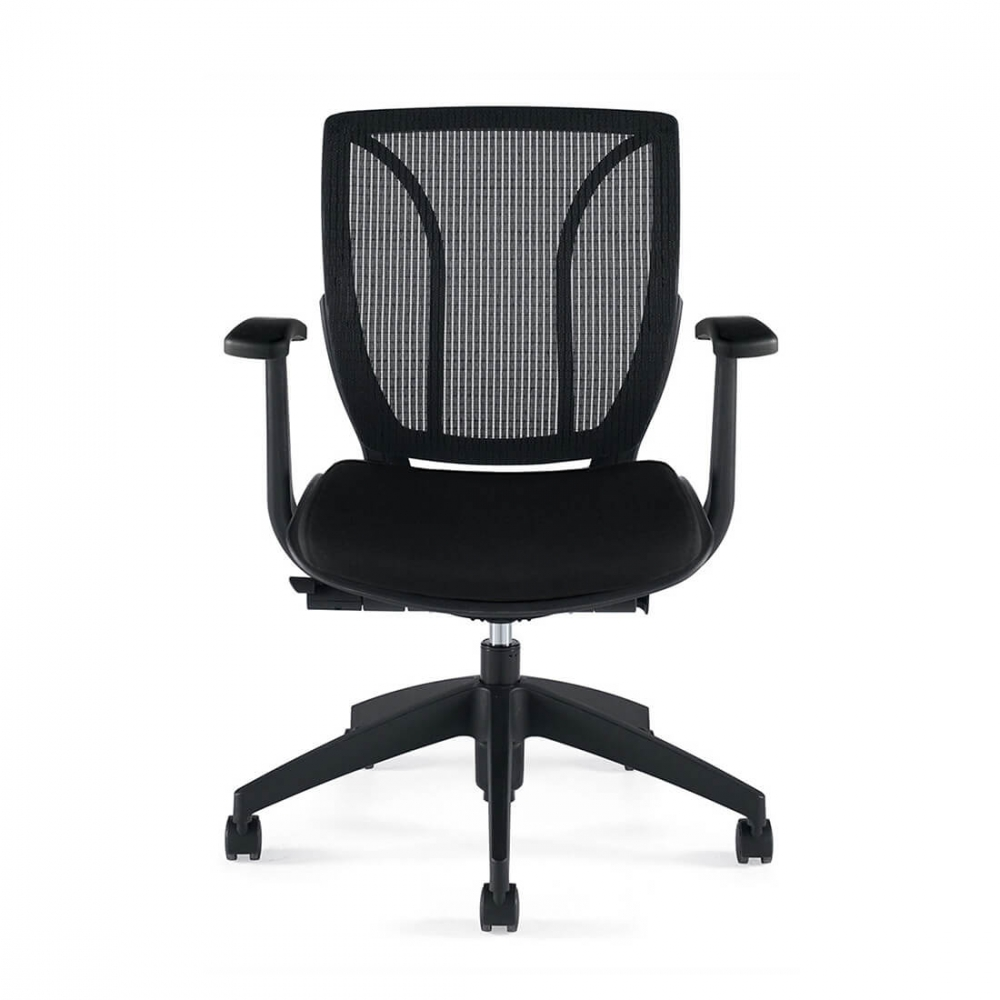 Adjustable office chairs front view