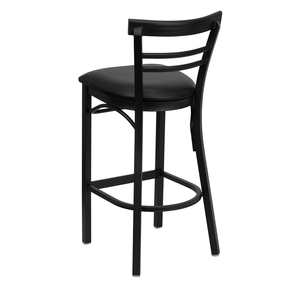 Backed bar stools back view