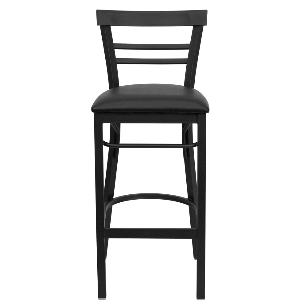 Backed bar stools front view