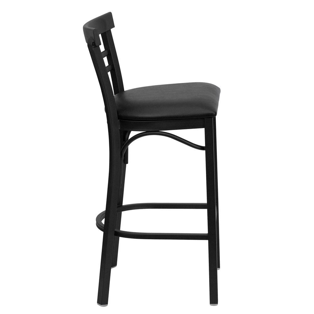 Backed bar stools side view