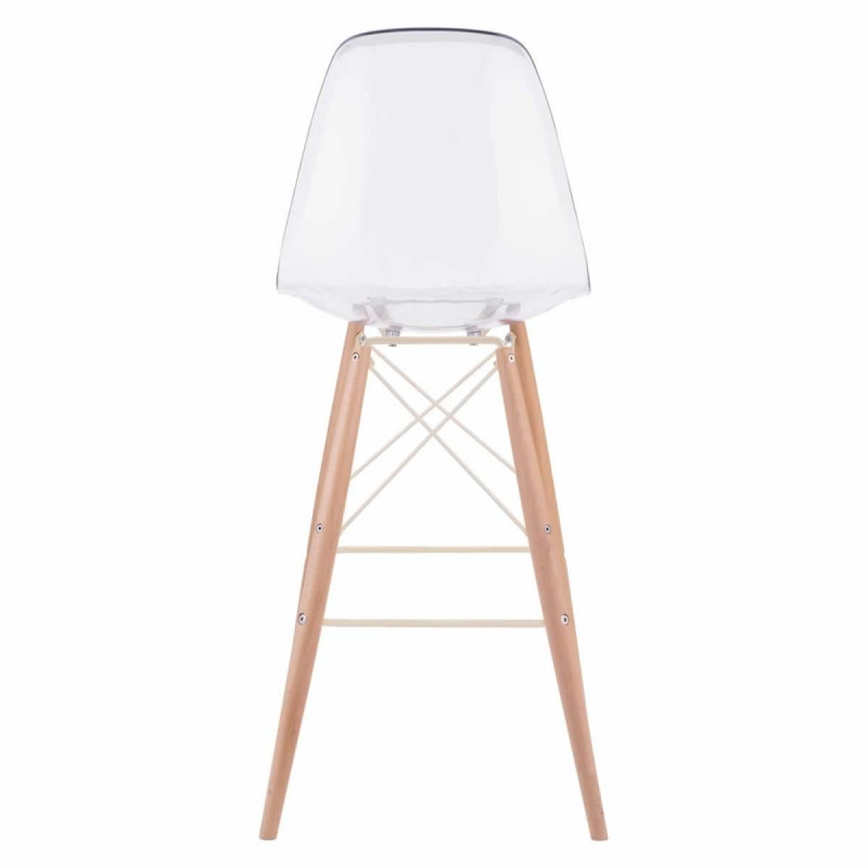 Barstool with back back view
