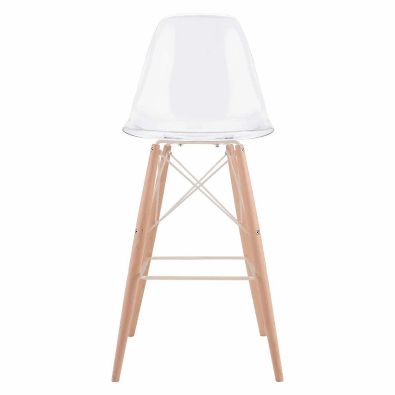 Barstool with back front view