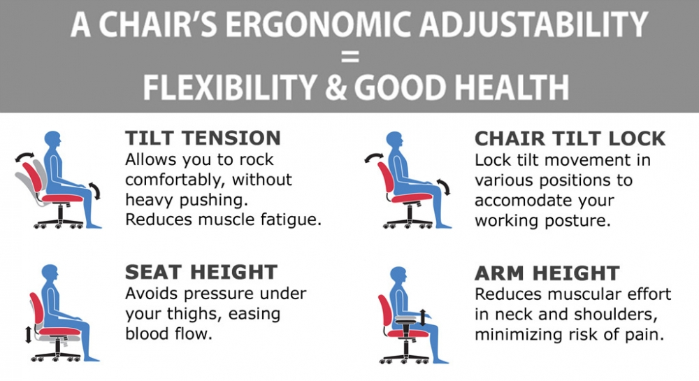 Big & tall executive chair ergonomic features
