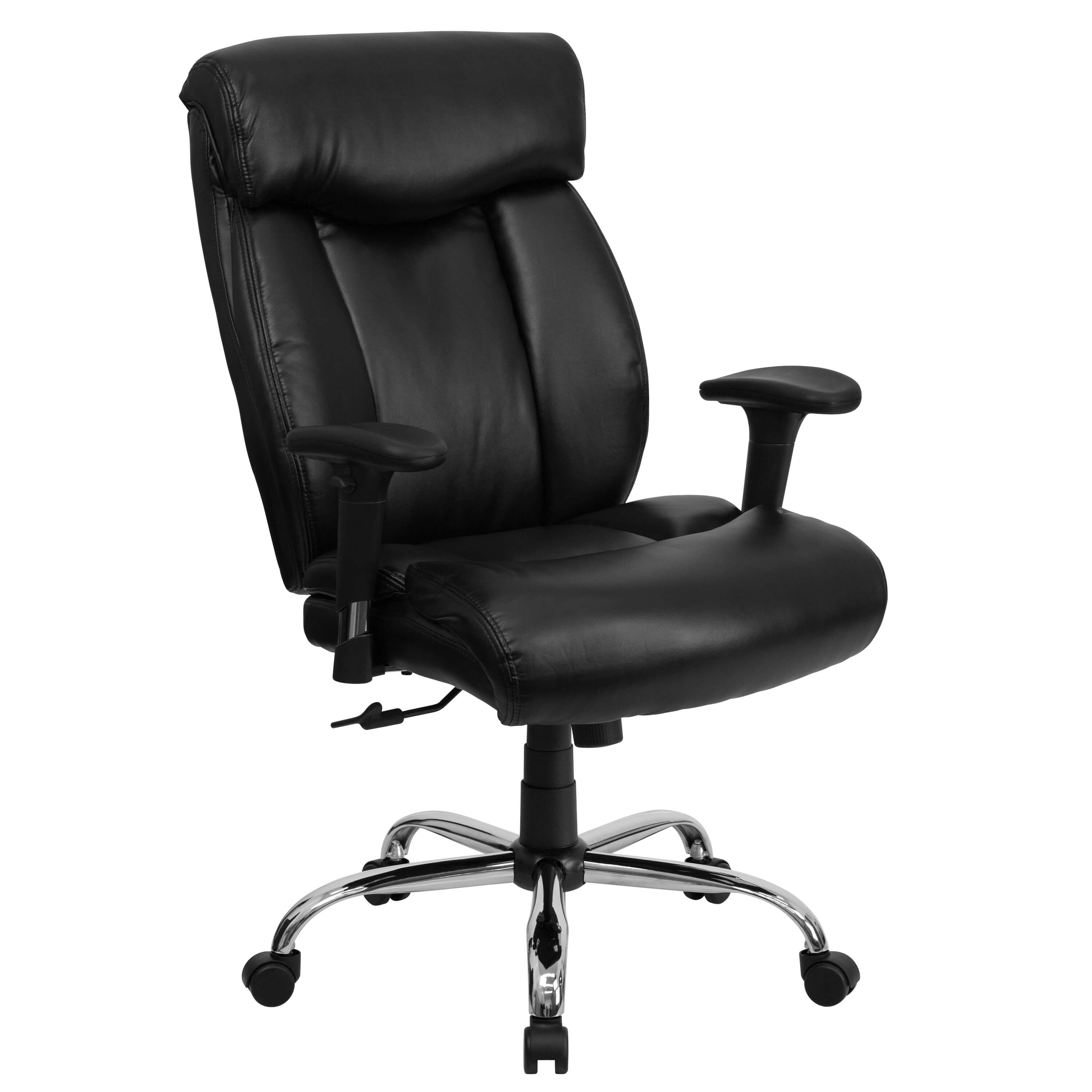 Big and tall executive office chairs CUB GO 1235 BK LEA A GG ALF
