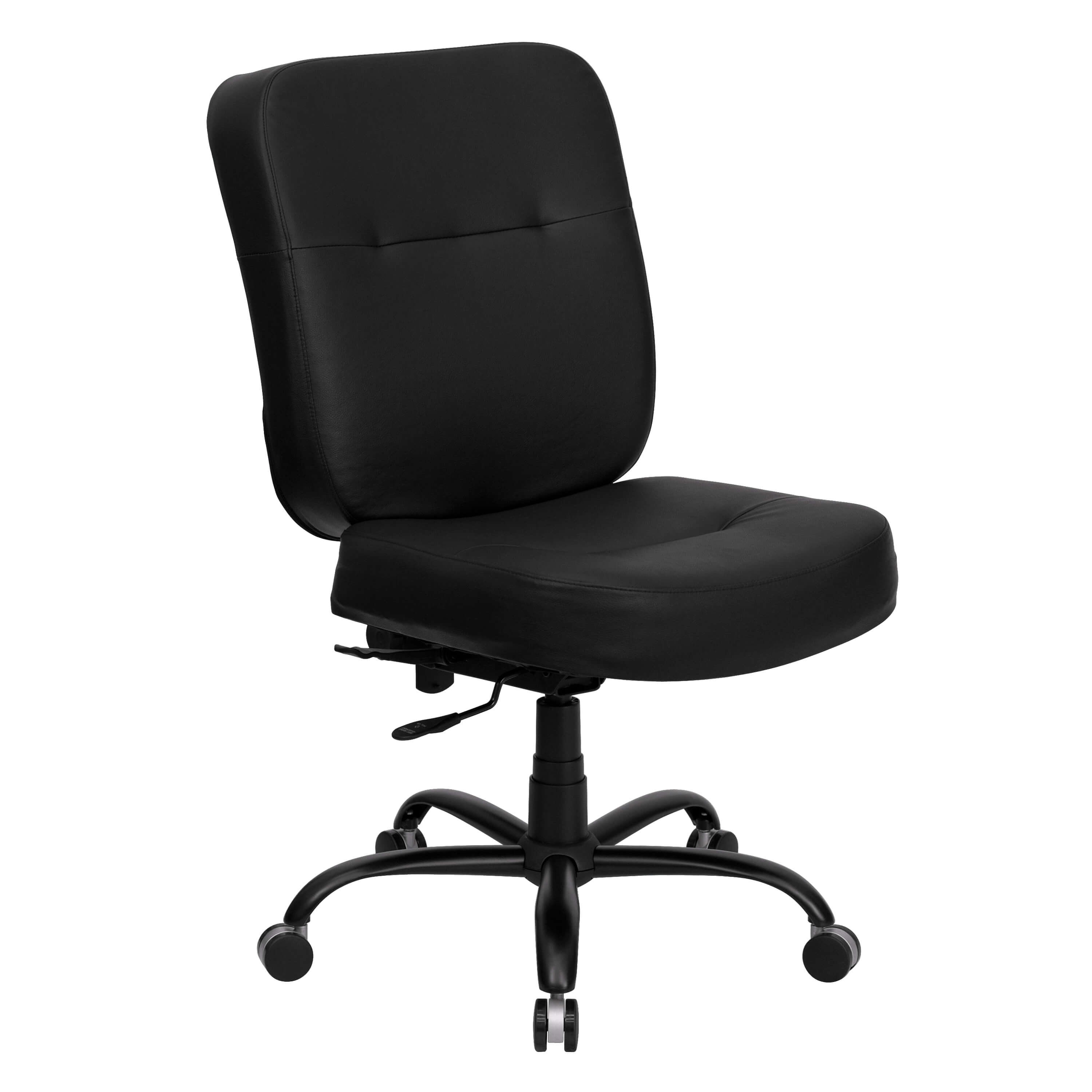 Big and tall executive office chairs CUB WL 735SYG BK LEA GG ALF