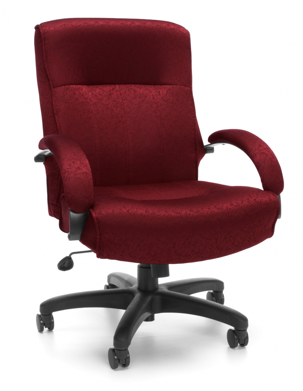 Big and tall executive office chairs cub 711 303 1 burgundy mfo