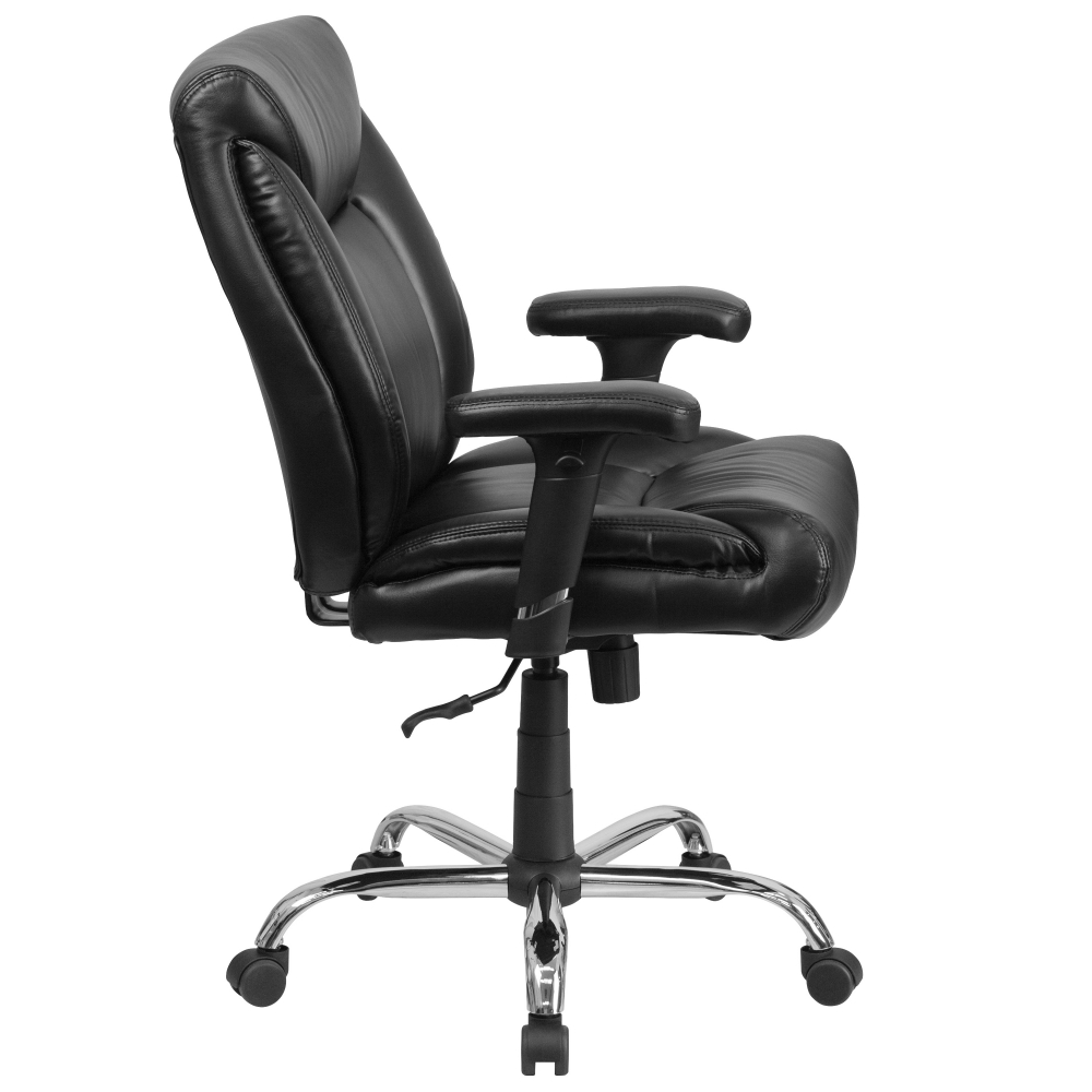 Big and tall leather office chairs side view