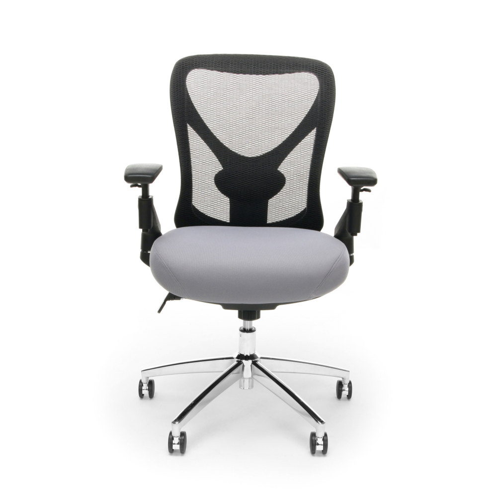Big and tall mesh office chairs cub 257 gray mfo