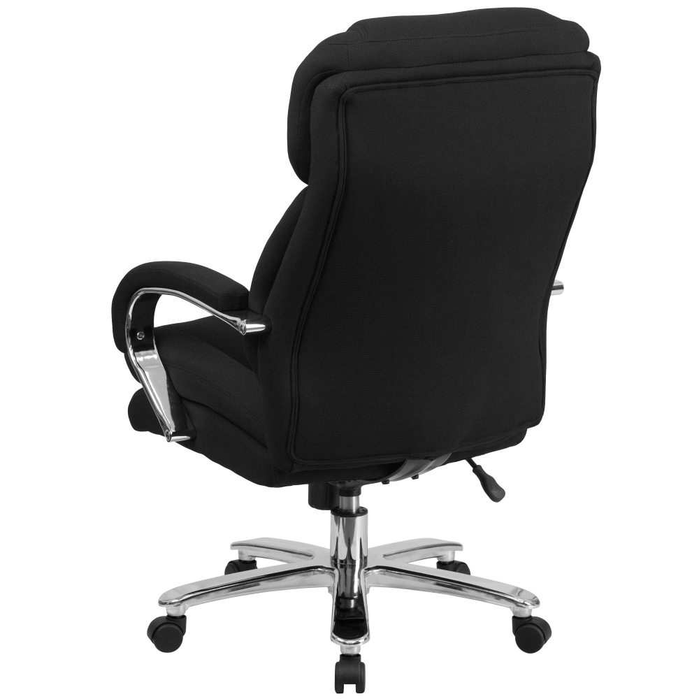 And Tall Office Chair 500 Lbs Capacity Rear View