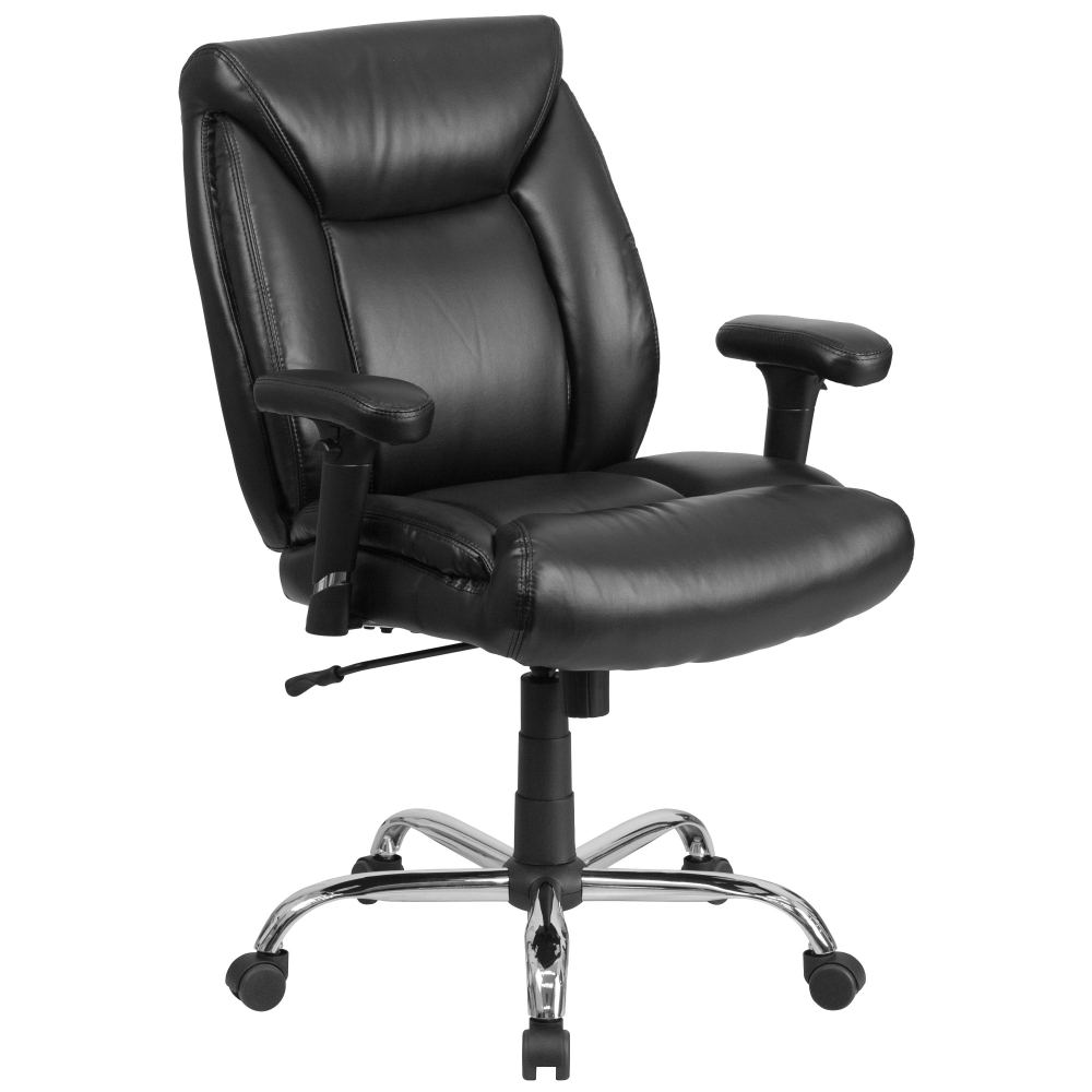 Helios Big And Tall Leather Office Chairs