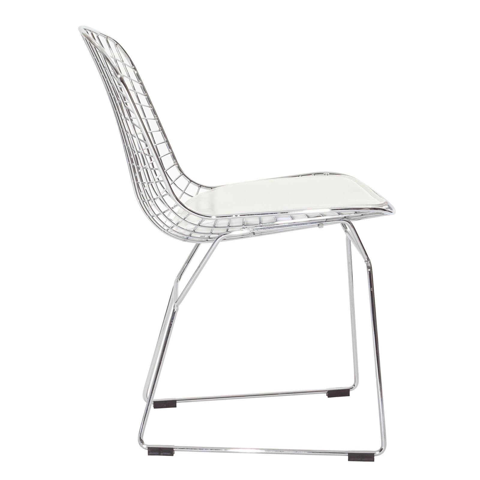 Bistro metal chair side view