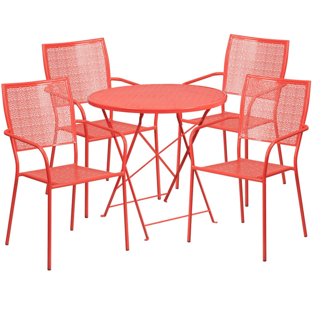 Bistro table set CUB CO 30RDF 02CHR4 RED GG