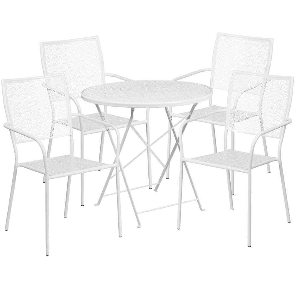 Bistro table set CUB CO 30RDF 02CHR4 WH GG F