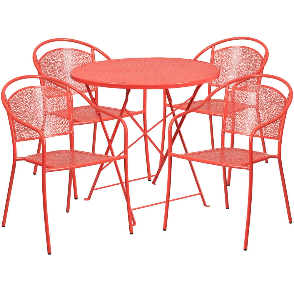Bistro table set CUB CO 30RDF 03CHR4 RED GG FLA