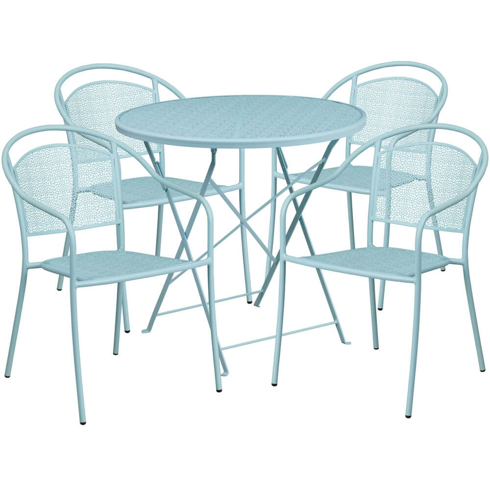 Bistro table set CUB CO 30RDF 03CHR4 SKY GG FLA