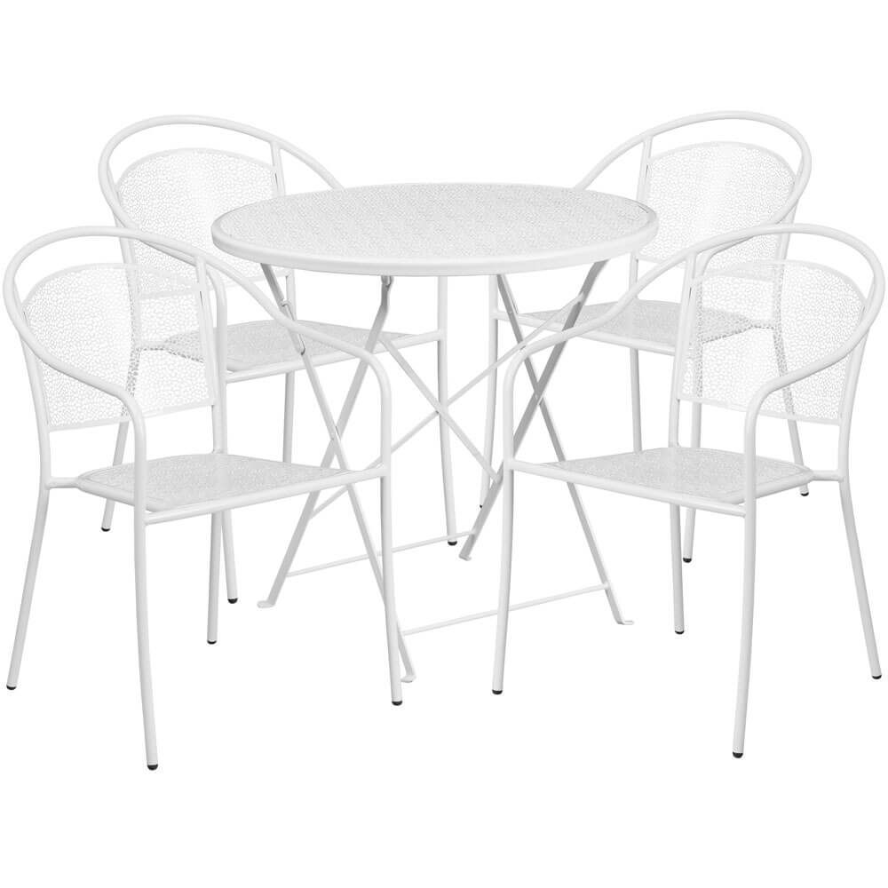 Bistro table set CUB CO 30RDF 03CHR4 WH GG FLA