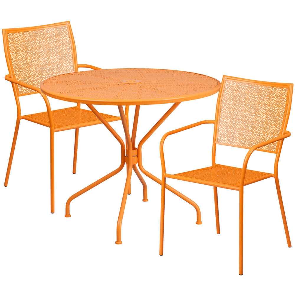 Bistro table set CUB CO 35RD 02CHR2 OR GG FLA