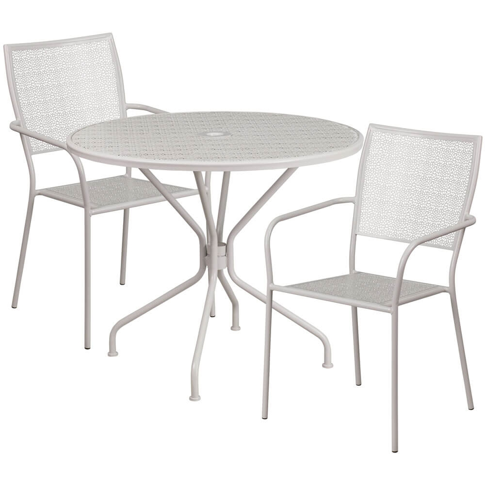 Bistro table set CUB CO 35RD 02CHR2 SIL GG FLA
