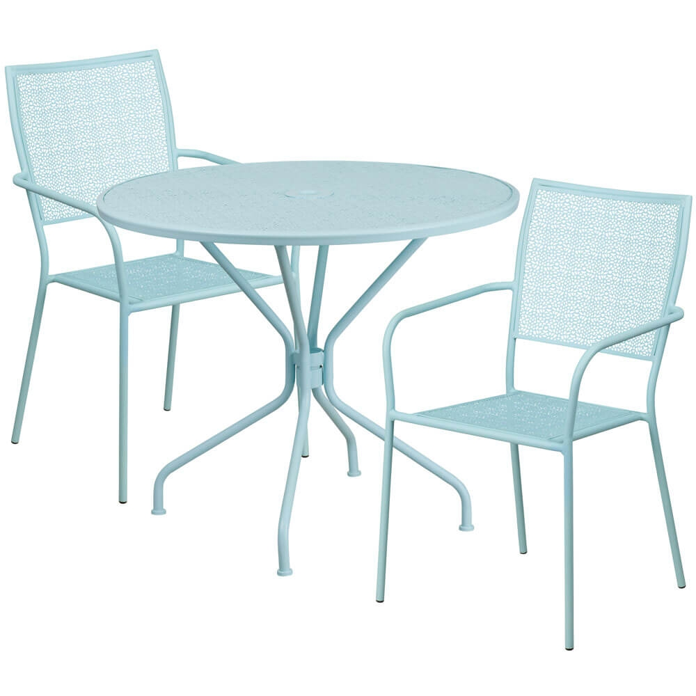 Bistro table set CUB CO 35RD 02CHR2 SKY GG FLA