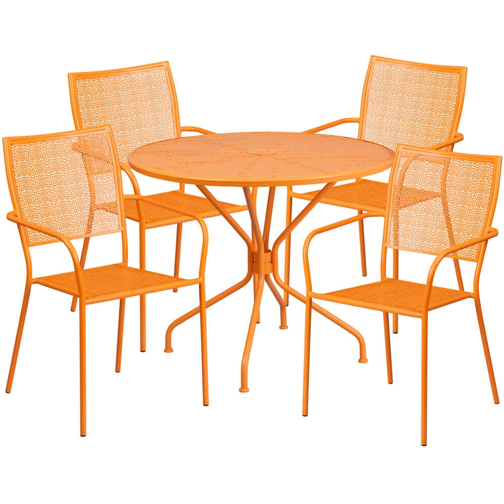 Bistro table set CUB CO 35RD 02CHR4 OR GG FLA