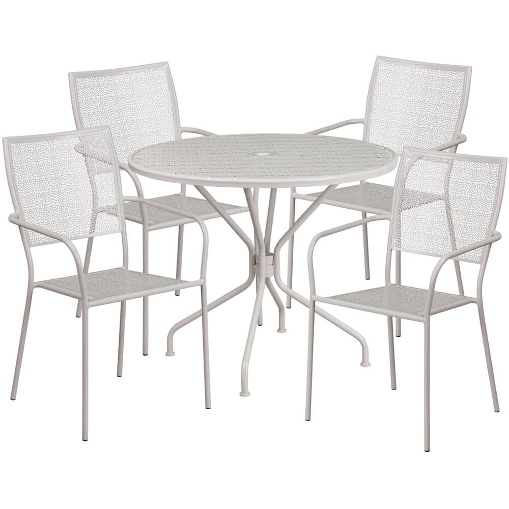 Bistro table set CUB CO 35RD 02CHR4 SIL GG FLA