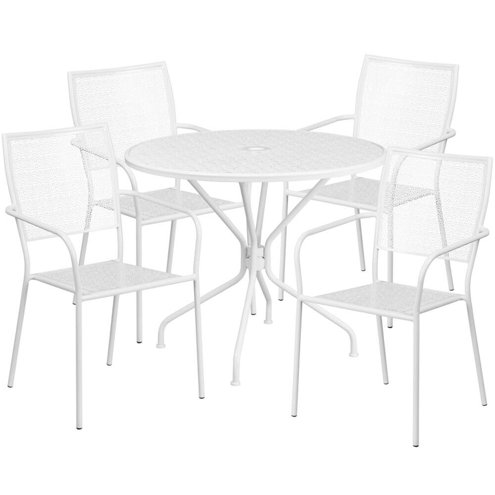 Bistro table set CUB CO 35RD 02CHR4 WH GG FLA