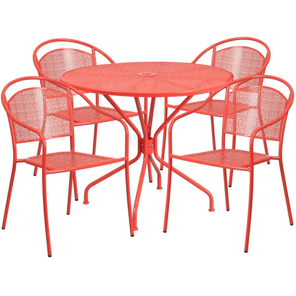 Bistro table set CUB CO 35RD 03CHR4 RED GG FLA