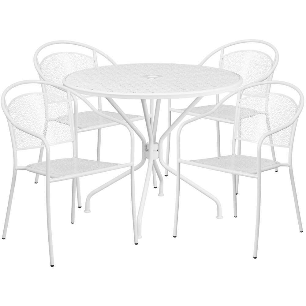 Bistro table set CUB CO 35RD 03CHR4 WH GG FLA