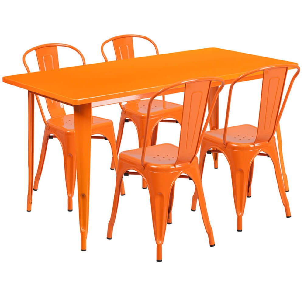 Bistro table set CUB ET CT005 4 30 OR GG FLA