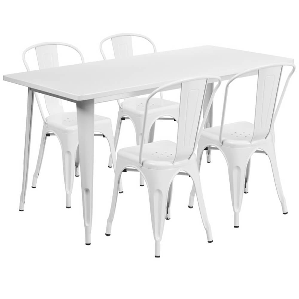 Bistro table set CUB ET CT005 4 30 YL GG FLA