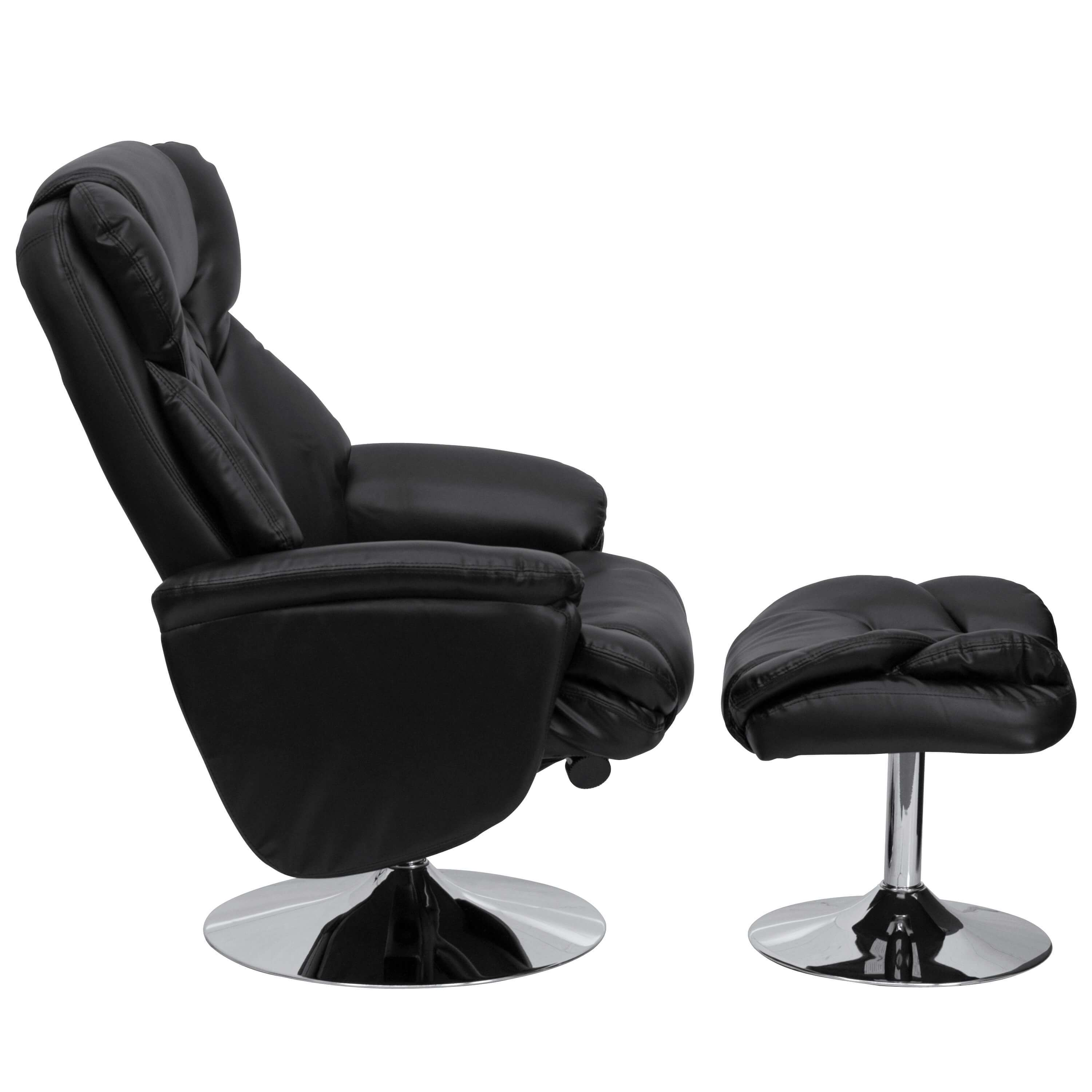 Puglia Black Leather Recliner Chair
