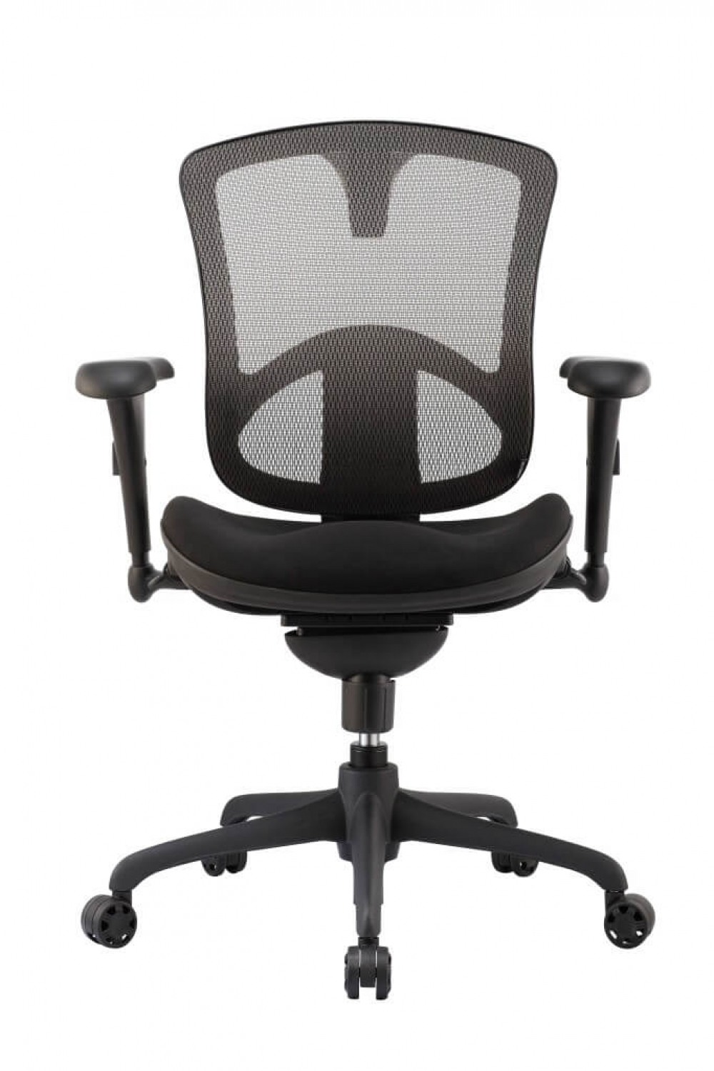 Black office chair front view
