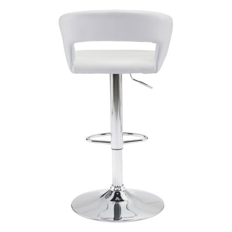 Black or white bar stools with backs back view