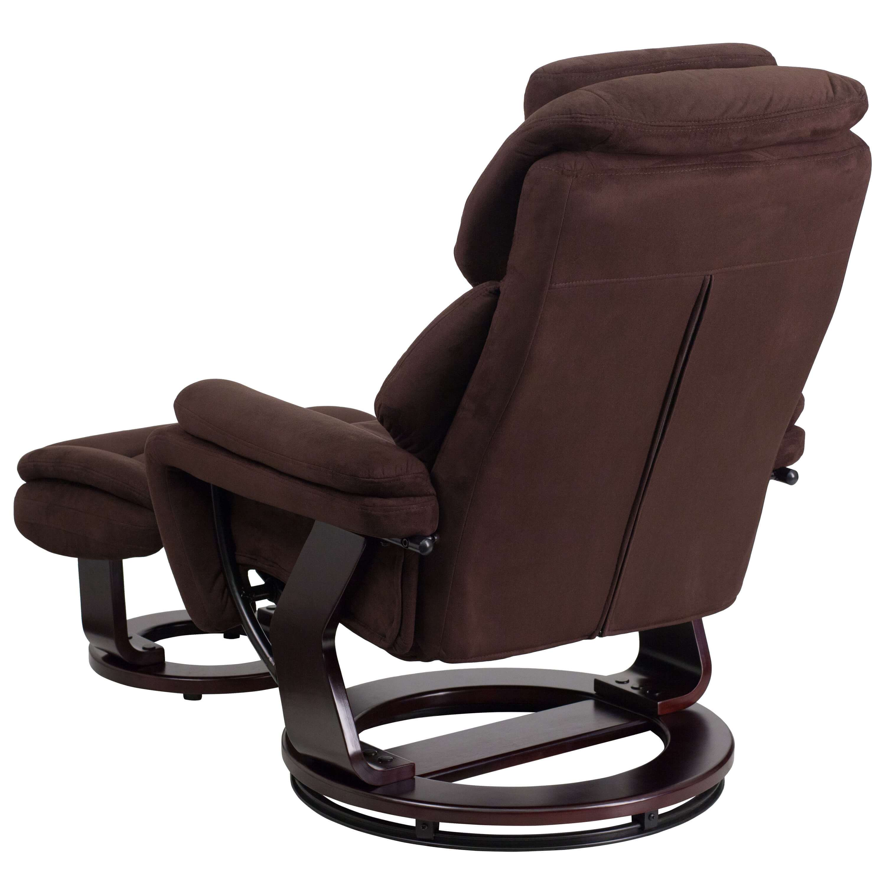 Brown recliner back view