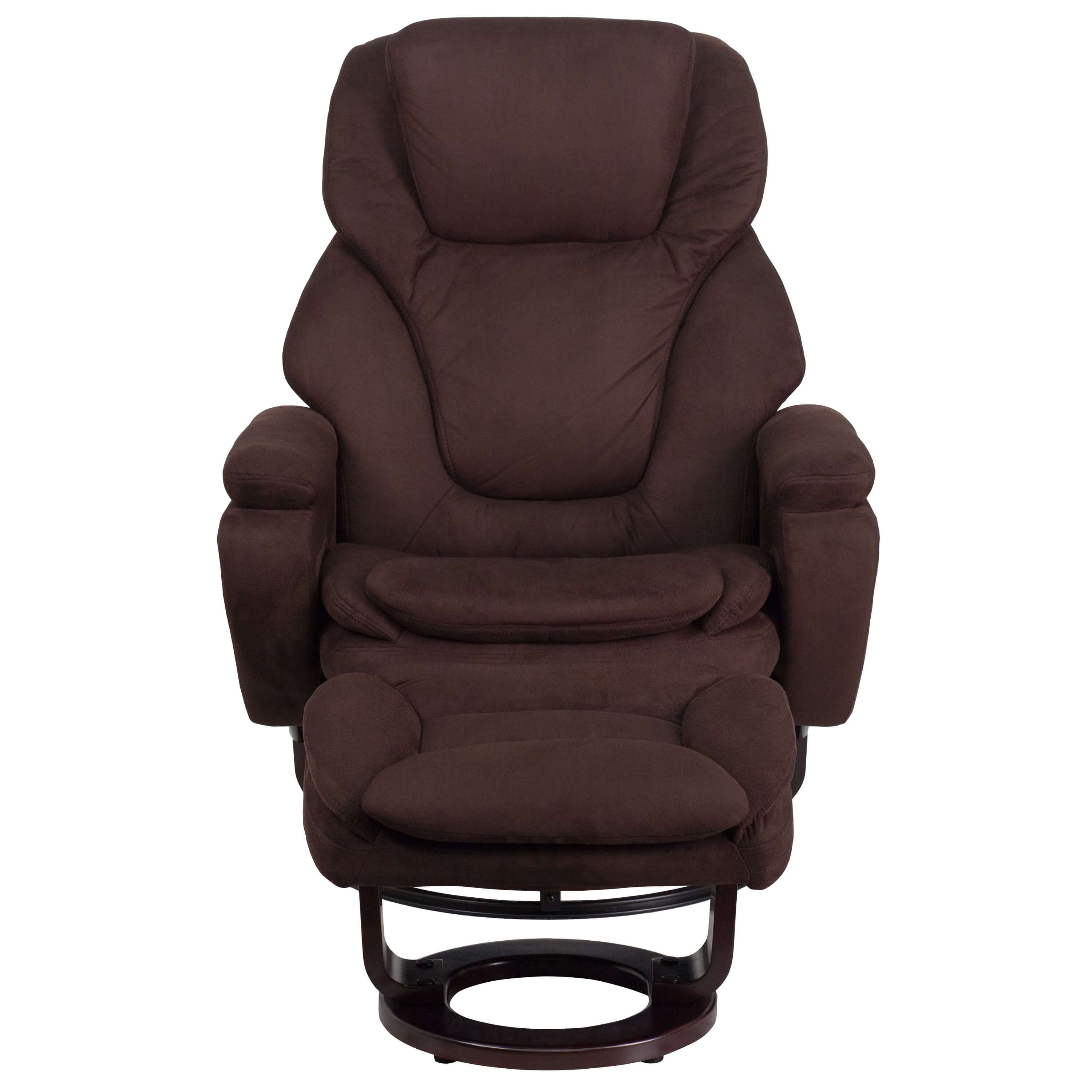 Brown recliner front view