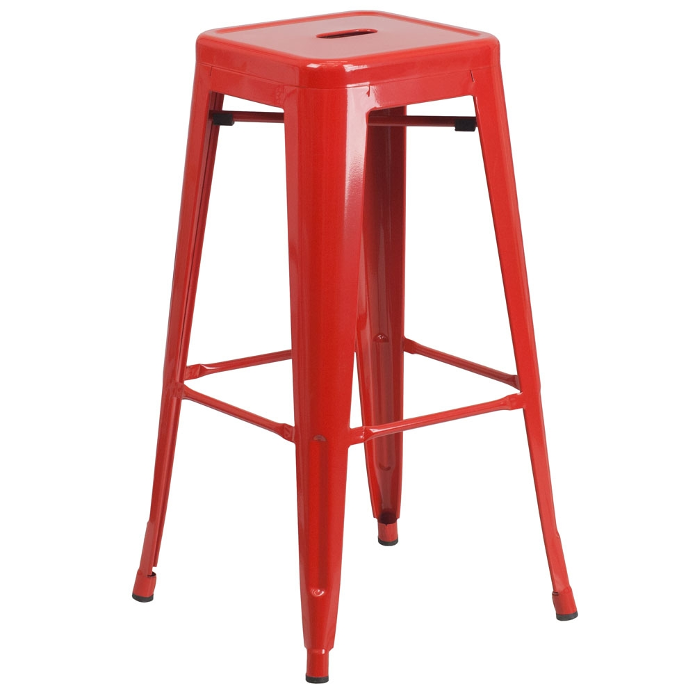 Cafe chairs CUB CH 31320 30 RED GG FLA
