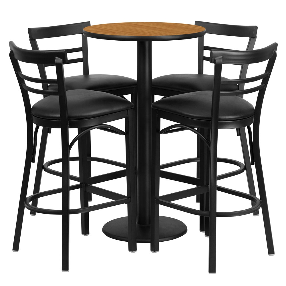 Round Table Sets: Benedict 24inch Round Pub Table Sets