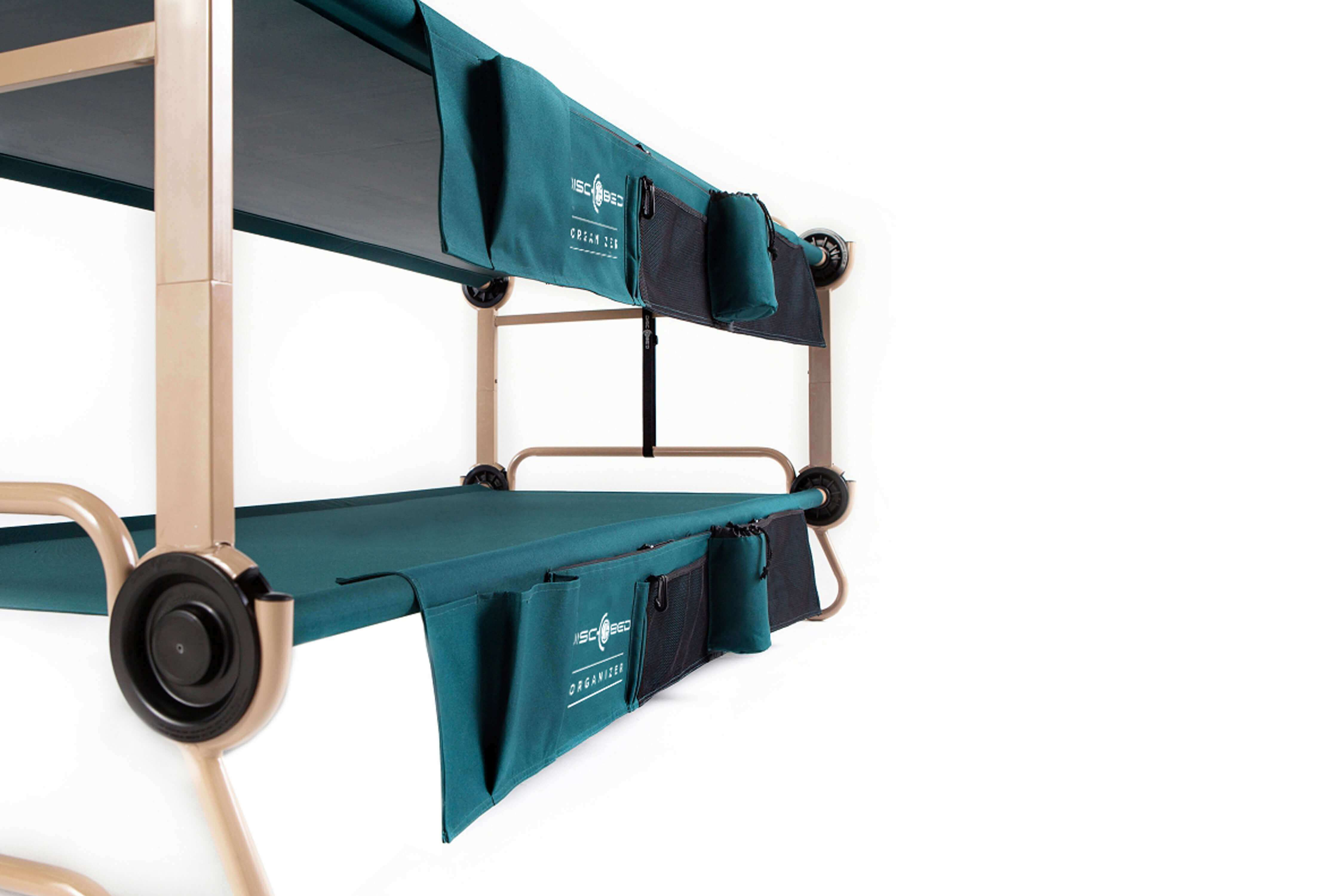 Camping bunk beds side view