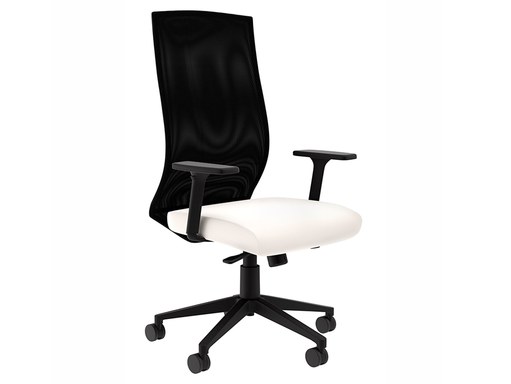 Maxim Mt White Leather Computer Chair