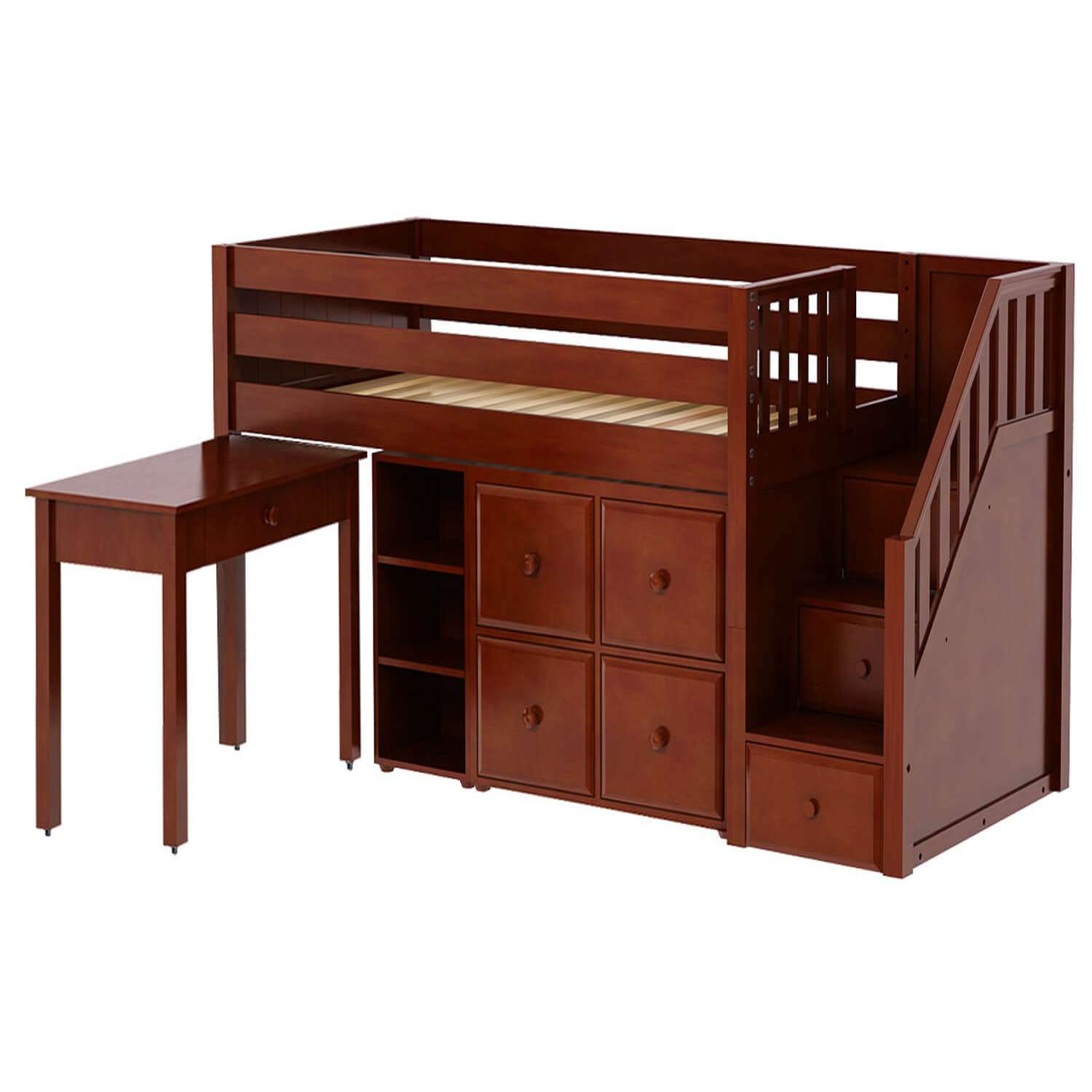 Vincent Kids Bunk Beds with Desk